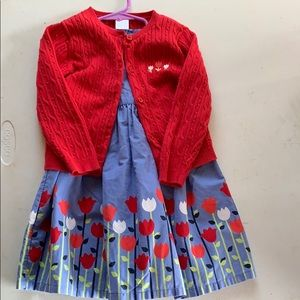 Gymboree Holland Days dress and cardigan